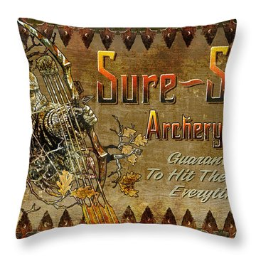 Sure Shot Archery Throw Pillow by JQ Licensing