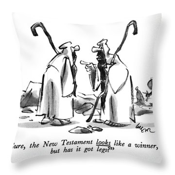 Sure, The New Testament Looks Like A Winner, But Throw Pillow