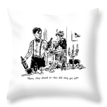 Sure, They Drank It - But Did They Get It? Throw Pillow