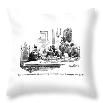 Sure, We Need More Research In Alchemy Throw Pillow