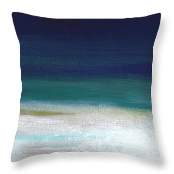 Surf And Sky- Abstract Beach Painting Throw Pillow