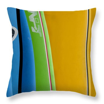 Surf Boards Throw Pillow by Art Block Collections