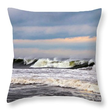 Surf City Surf Throw Pillow