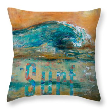 Surf Throw Pillow by Linda Olsen