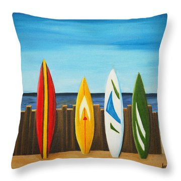 Surf On Throw Pillow