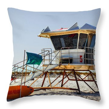 Surf Rescue Throw Pillow by Sennie Pierson