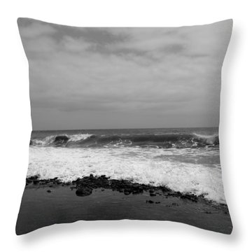 Surf Rolling In  Throw Pillow