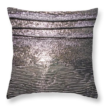 Throw Pillow featuring the photograph Surf Sand Seagull by Jordan Blackstone