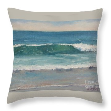 Surf Series 5 Throw Pillow by Jennifer Boswell
