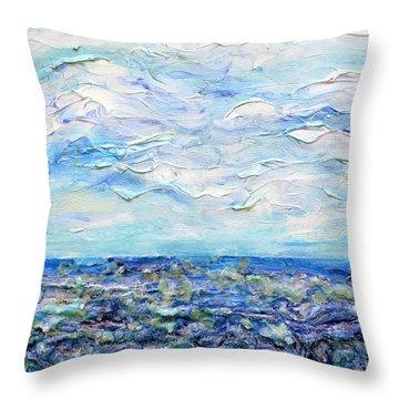 Surf Study Throw Pillow by Regina Valluzzi