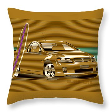 Surf Ute Throw Pillow by MOTORVATE STUDIO Colin Tresadern