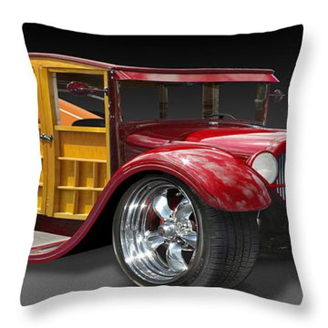 Surf Woody Throw Pillow by Mike McGlothlen