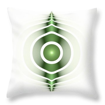 Surface Waves - Green Throw Pillow by Anastasiya Malakhova