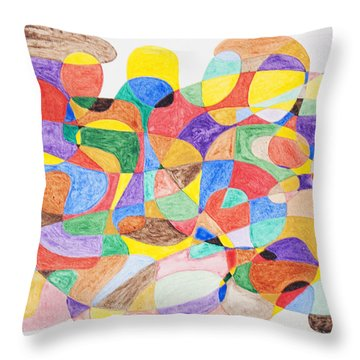 Throw Pillow featuring the painting Abstract Dance Party  by Stormm Bradshaw