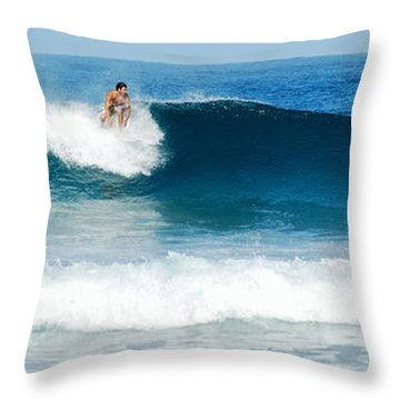 Surfer Dsc_1330 Throw Pillow by Michael Peychich