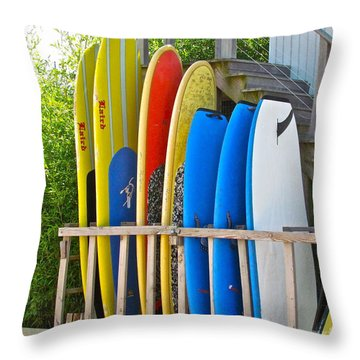 Surfer Dudes II Throw Pillow