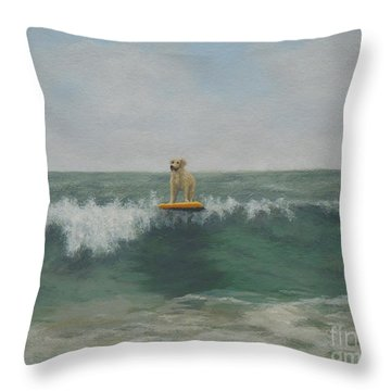 Surfer Lab Throw Pillow