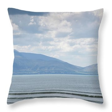 Surfer On The Beach, Inch Strand Throw Pillow