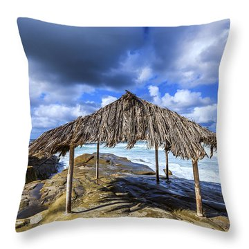 Iconic Surf Shack Throw Pillow