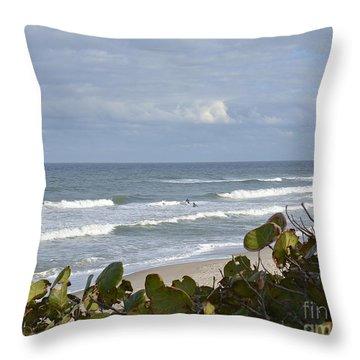 Surfin' Throw Pillow by Carol  Bradley