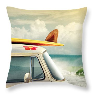 Surfing Way Of Life Throw Pillow
