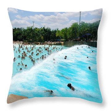Throw Pillow featuring the photograph Surfs Up by David Nicholls