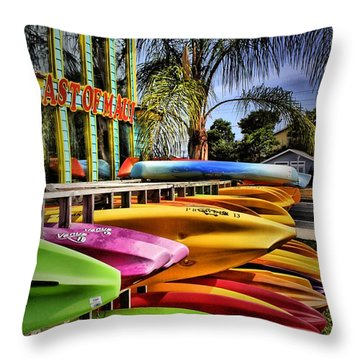 Surf's Up Throw Pillow by Robert McCubbin