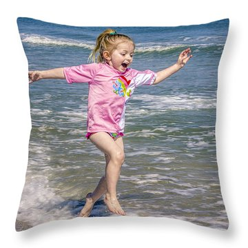 Throw Pillow featuring the photograph Surf's Up by Rob Sellers