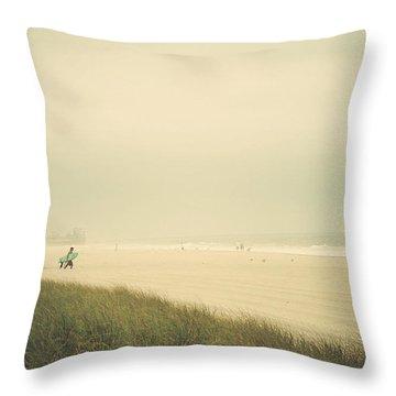 Surf's Up Seaside Park New Jersey Throw Pillow