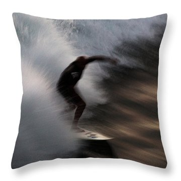 Surge Throw Pillow by John Daly