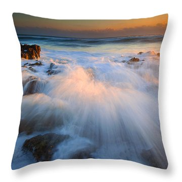 Surge Throw Pillow by Mike  Dawson