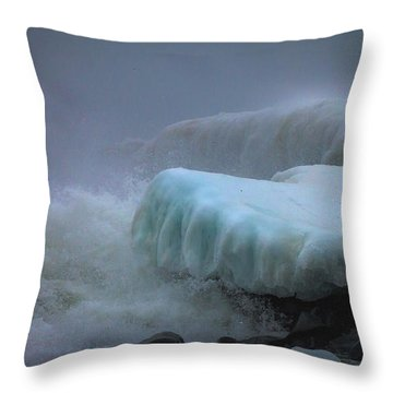 Surging Sea Throw Pillow by Mary Amerman