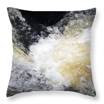 Throw Pillow featuring the photograph Surging Waters by Tara Potts