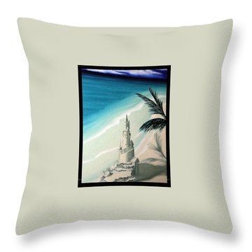 Throw Pillow featuring the painting Surprise Blessing by Dianna Lewis