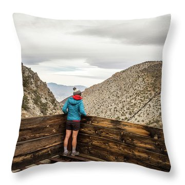 Surprise Canyon, Death Valley, Ca, Usa Throw Pillow