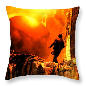 Surprise Indy Original Work Throw Pillow by David Lee Thompson
