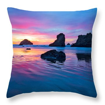Surprise Sunset Throw Pillow by Patricia Davidson