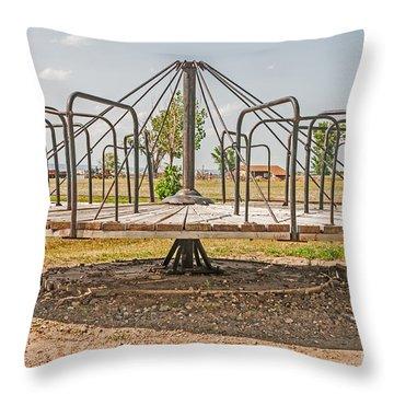 Surprise Under The Merry-go-round Throw Pillow