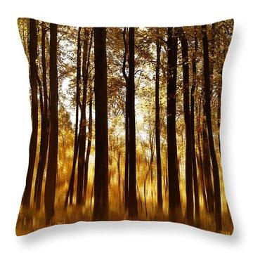 Surreal Autumn Throw Pillow