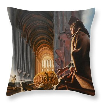 Surreal Cathedral Throw Pillow by Dave Martsolf