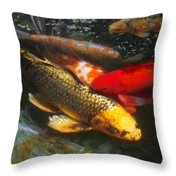 Surreal Fishpond Throw Pillow by Adria Trail