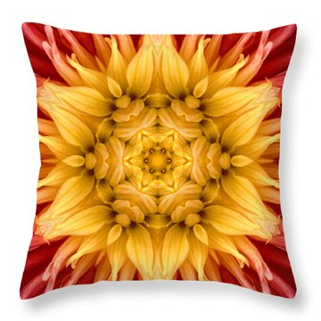 Surreal Flower No.4 Throw Pillow