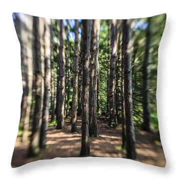 Surreal Forest Throw Pillow