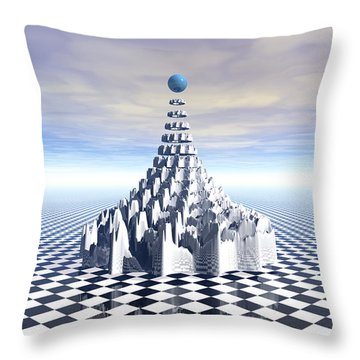 Surreal Fractal Tower Throw Pillow by Phil Perkins