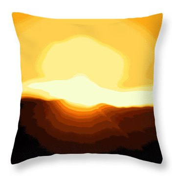 Surreal Mountain Sunset Throw Pillow by Clarice  Lakota