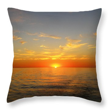 Surreal Sunrise At Sea Throw Pillow