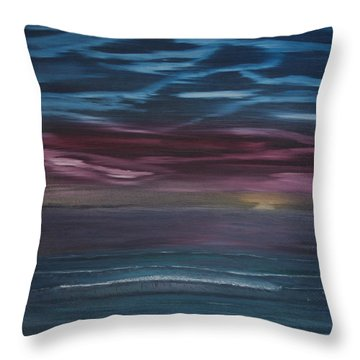 Throw Pillow featuring the painting Surreal Sunset by Ian Donley