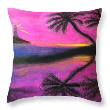 Surreal Sunset Throw Pillow by Renee Michelle Wenker