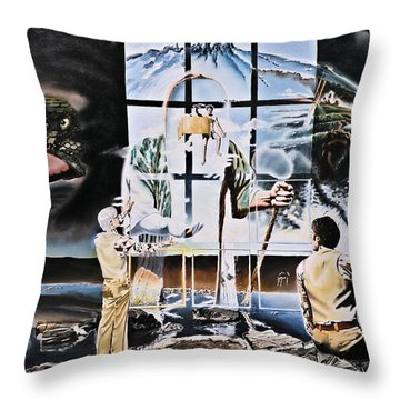 Surreal Windows Of Allegory Throw Pillow by Dave Martsolf