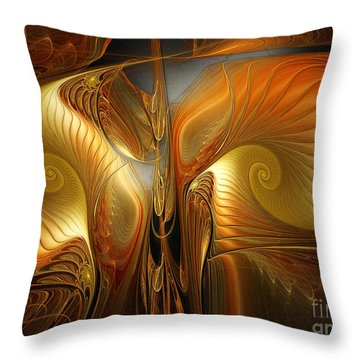 Surrealistic Landscape-fractal Design Throw Pillow